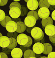 Tennis ball 3d seamless pattern Sports accessory vector image vector image