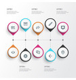 user outline icons set collection of privacy vector image