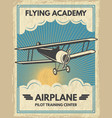 vintage aircaft poster vector image vector image