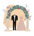 wedding day icons cartoon vector image vector image