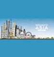 welcome to asia skyline with gray buildings and vector image vector image