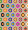 Create seamless folk flower pattern vector image
