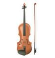 realistic wooden violin vector image