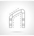 Asymmetrical arch flat line icon vector image vector image
