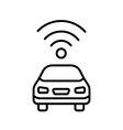 Autonomous self-driving driverless vehicle car vector image