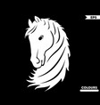beautiful head horse vector image