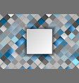 blue grey geometric squares mosaic abstract vector image