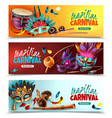 brasil carnaval banners set vector image vector image