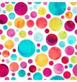 bright circle seamless pattern vector image vector image