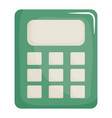 calculator math device digital icon vector image
