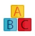 cartoon alphabet blocks toy object for small vector image vector image