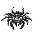 cartoon gigantic spider halloween character vector image