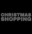 christmas shopping text in polygonal mesh style vector image