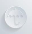 circle icon with a shadow umbrella vector image
