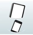 computer tablet with smartphone vector image vector image