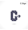 Creative C letter icon abstract logo design vector image vector image