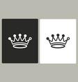 crown - icon vector image vector image