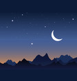 Dawn sky vector image