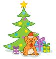 Dog gifts tree vector image