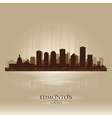 Edmonton Alberta skyline city silhouette vector image vector image