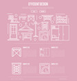 Efficiency hallway space design poster vector image