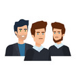 elegant businessmen avatars characters vector image vector image