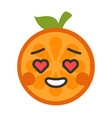 emoji - orange in love with happy smile isolated vector image