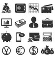 finance and business icons set vector image