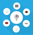 flat icon plumbing set of pipework tap container vector image vector image