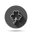 four leaf clover icon in flat style st patricks vector image vector image