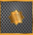 gold label ramadan kareem greeting card vector image