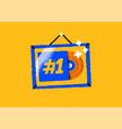 gold music album award frame cartoon icon isolated vector image vector image