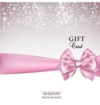 Gorgeous holiday background with pink bow and copy vector image vector image