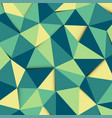 green and yellow polygon mosaic pattern background vector image vector image