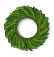 green christmas wreath global colors vector image vector image