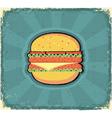 hamburger poster retro vector image vector image