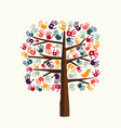 hand print tree for community help vector image vector image