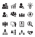 human resource management icon set vector image