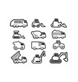 icon design set bundle template isolated vector image