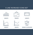 increase icons vector image vector image