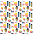 isometry memphis seamless pattern vector image