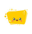 kawaii bubble cute cartoon funny vector image