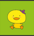 kawaii chick vector image