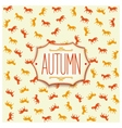 Label design for autumn season 2014 vector image vector image