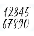 lettering numbers vector image vector image
