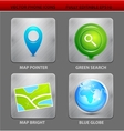 Map app icons vector image vector image