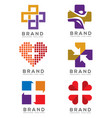 medical logo concept vector image vector image