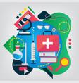 medicine flat vector image