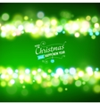 Merry Christmas Background with bokeh lights vector image vector image