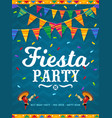 mexican fiesta party poster with chilli peppers vector image vector image
